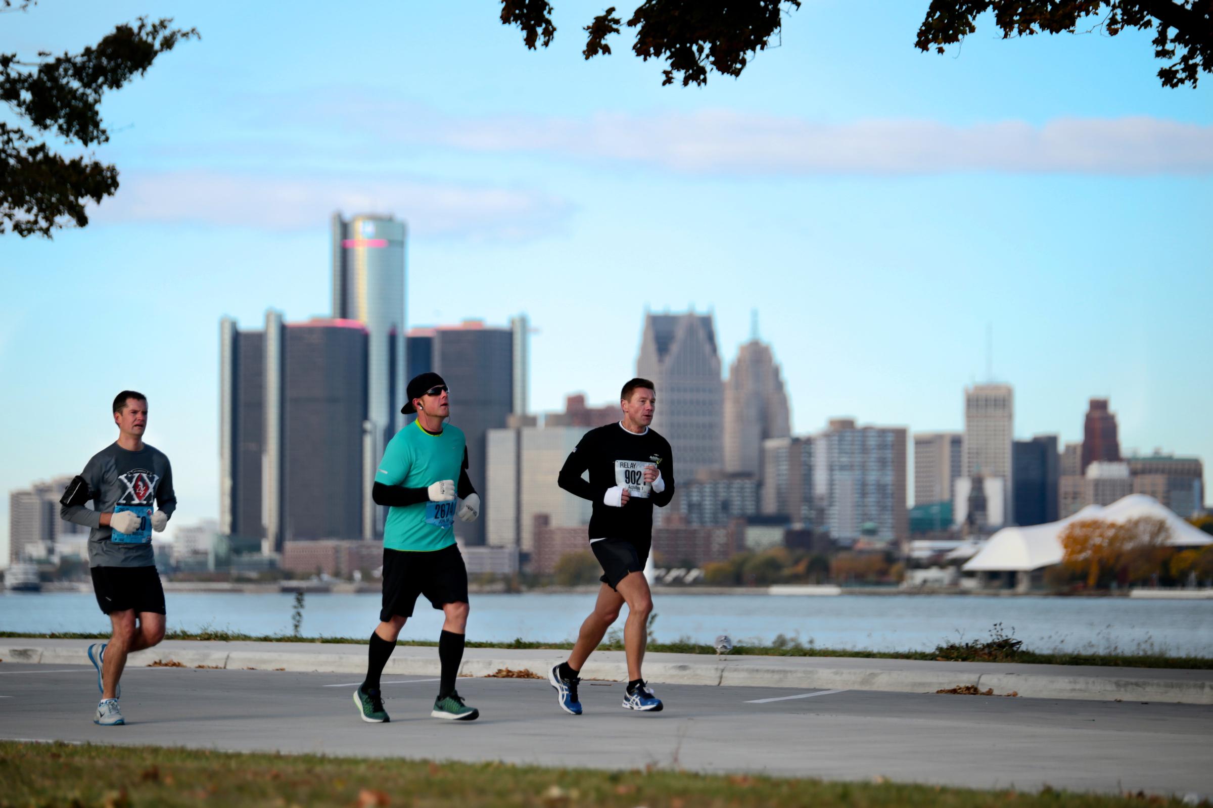 Marathon Runners Detroit
